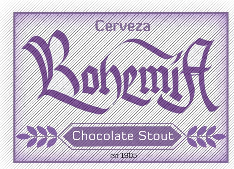 Mi Proyecto del curso: Caligrafía con góticas potentes (Cervezas mexicanas) 2