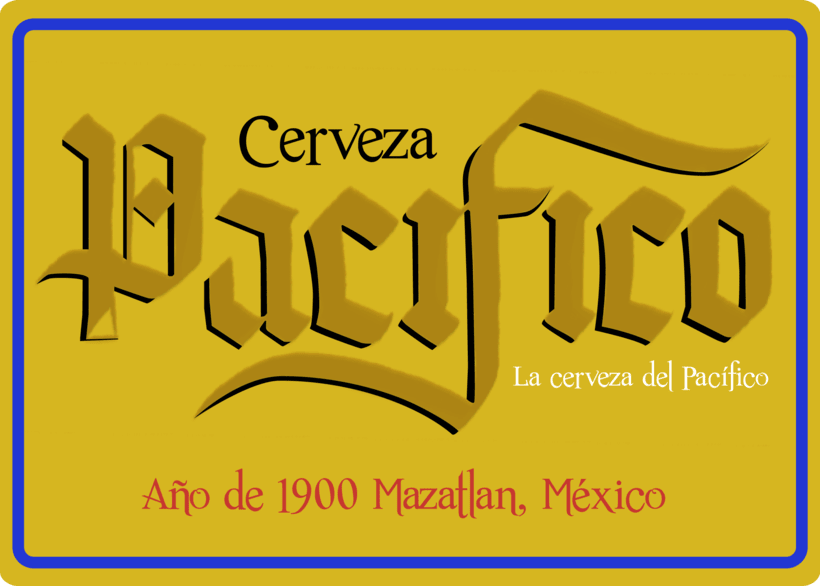 Mi Proyecto del curso: Caligrafía con góticas potentes (Cervezas mexicanas) 3