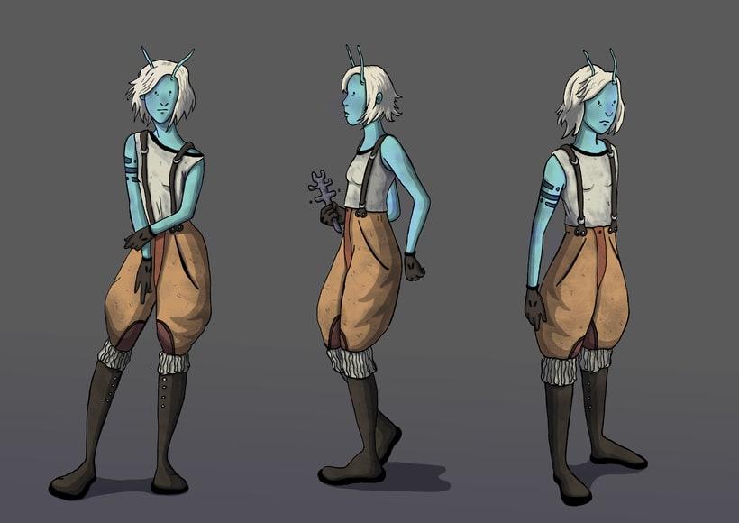 Concept Art para el videojuego Ruins of Dawn 4