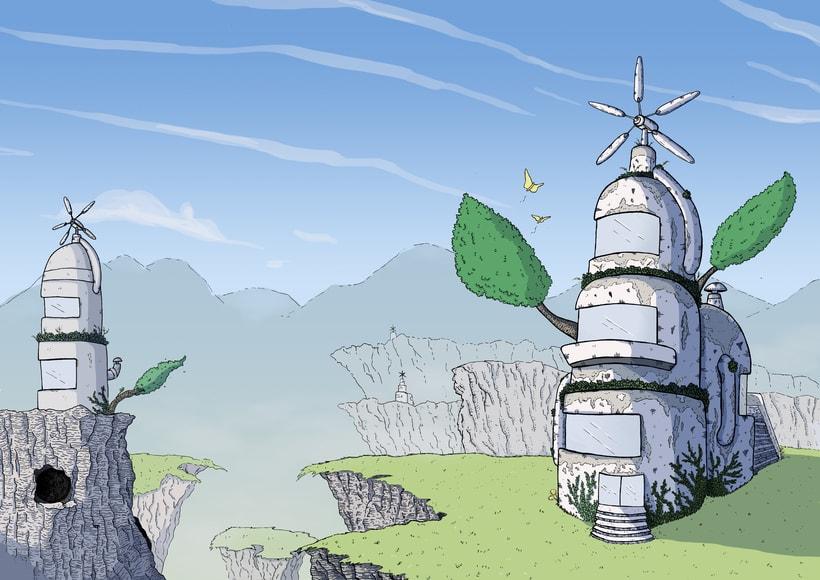 Concept Art para el videojuego Ruins of Dawn 5
