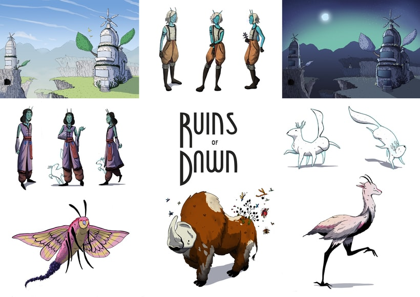 Concept Art para el videojuego Ruins of Dawn 8