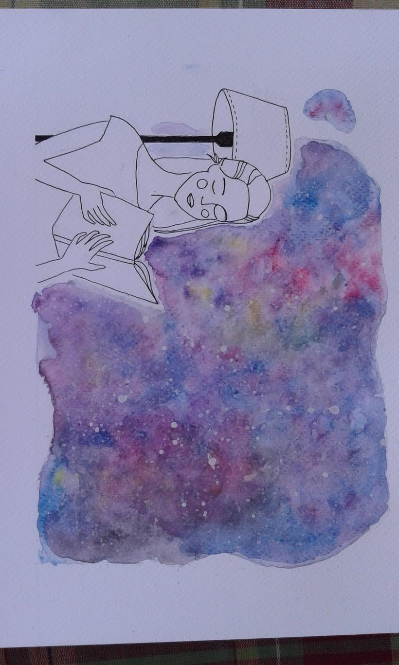 Autorretrato con galaxia 0