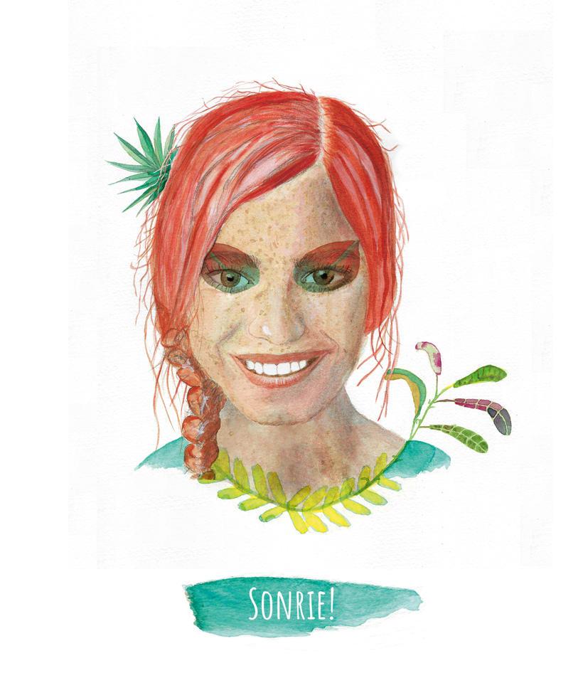 Mi primer retrato en acuarela: La sonrisa de la pelirroja 0