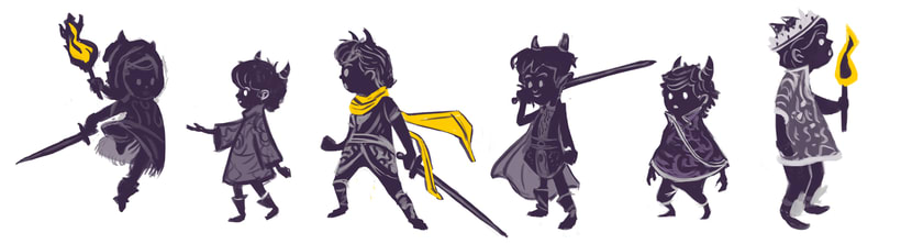 The demon kid and the three beggars (Character concept art) 9
