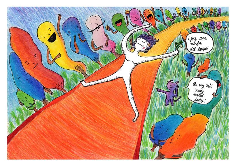 Personajes y bosques de colores 2