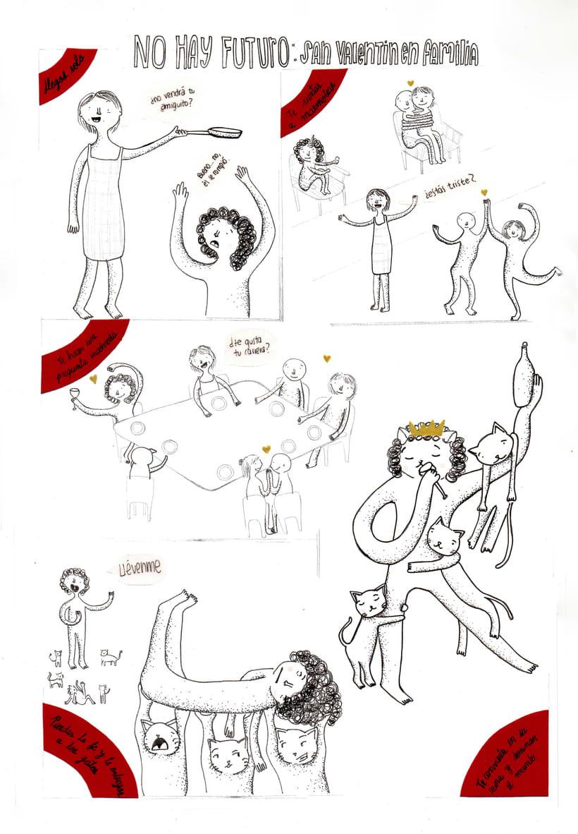 Primeras viñetas en tinta - No hay futuro 0