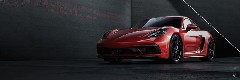 Porsche Caiman // Full CGI 3
