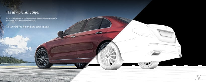 Mercedes Benz E Class Avantgarde // Full CGI 4