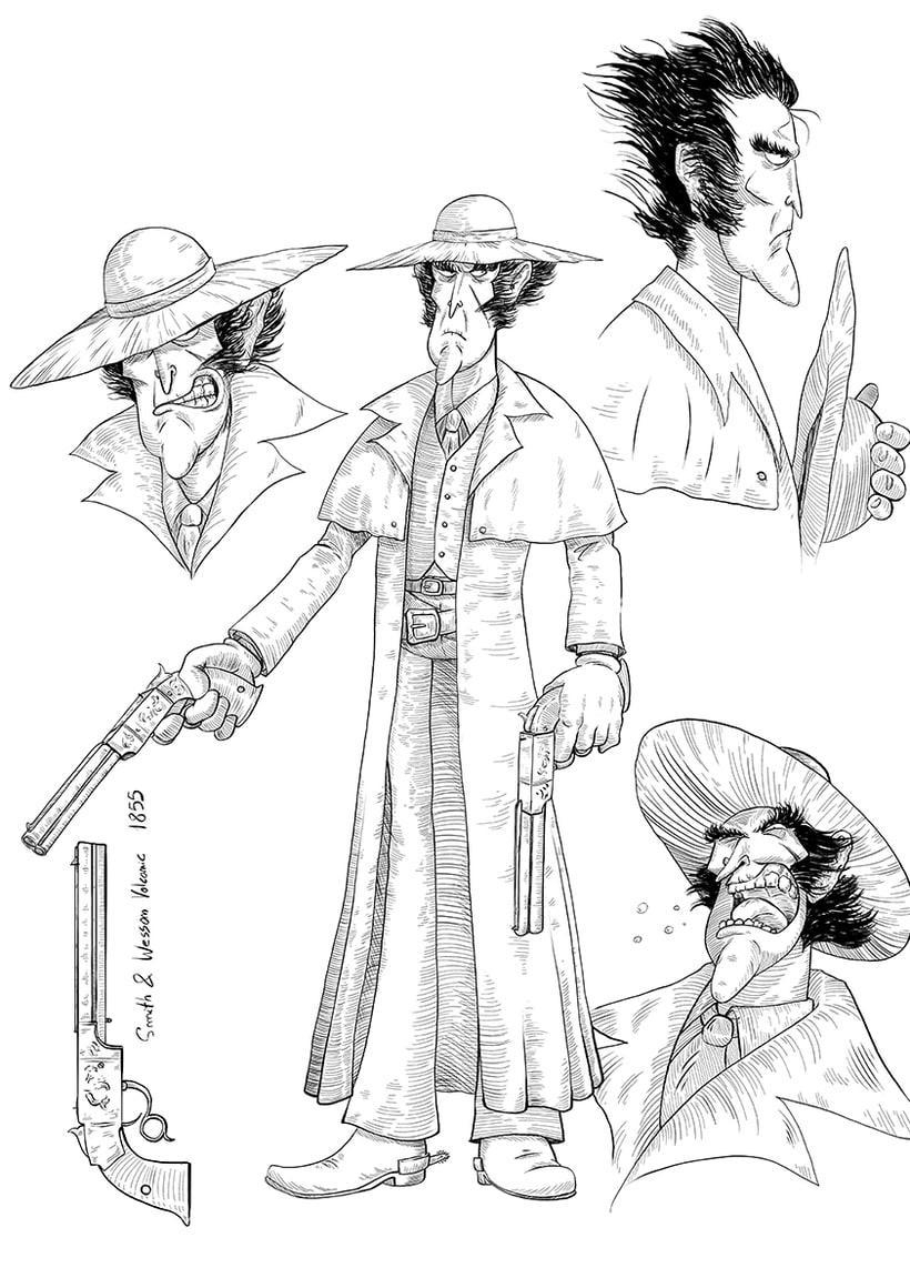 """Diseño de personajes """"WESTERN"""" 1"""