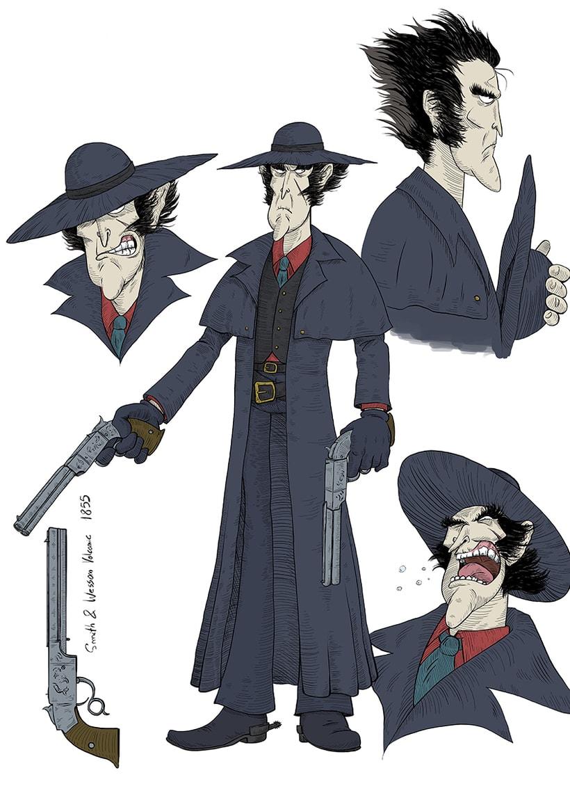 """Diseño de personajes """"WESTERN"""" 2"""