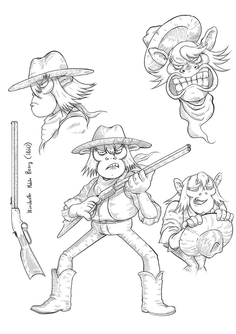 """Diseño de personajes """"WESTERN"""" 3"""