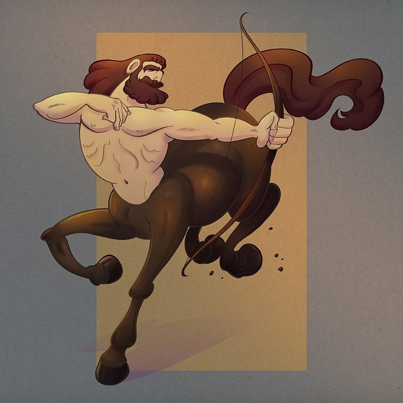 """Diseño de personaje: """"El centauro"""" -1"""