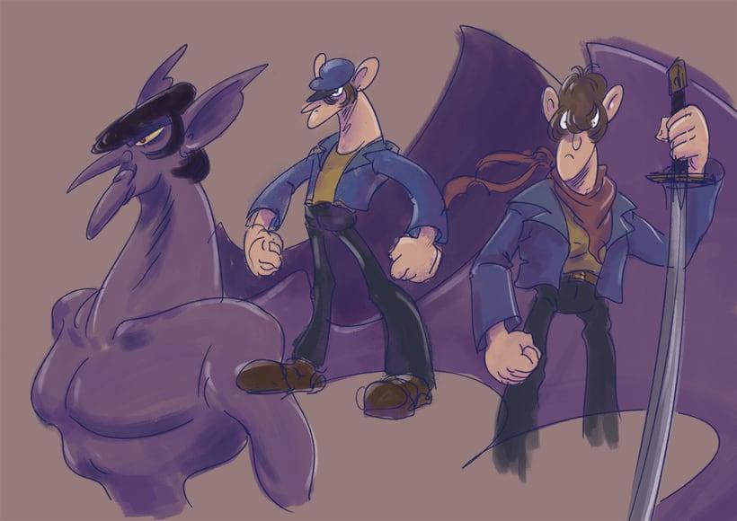 Bocetos y diseño de personajes 1