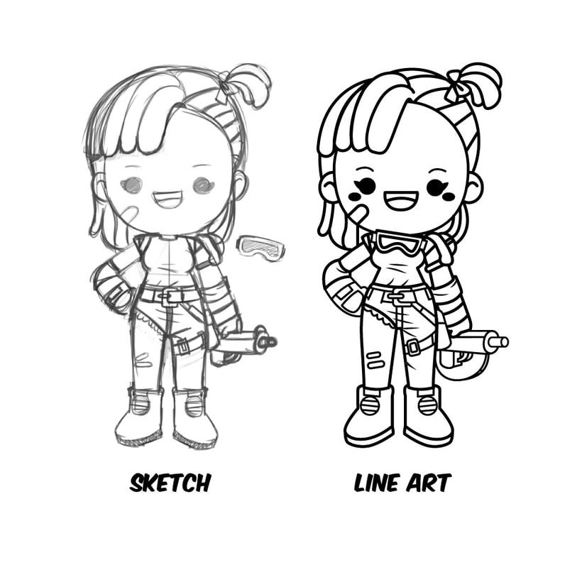 Mi Proyecto del curso: Diseño de personajes estilo kawaii 4