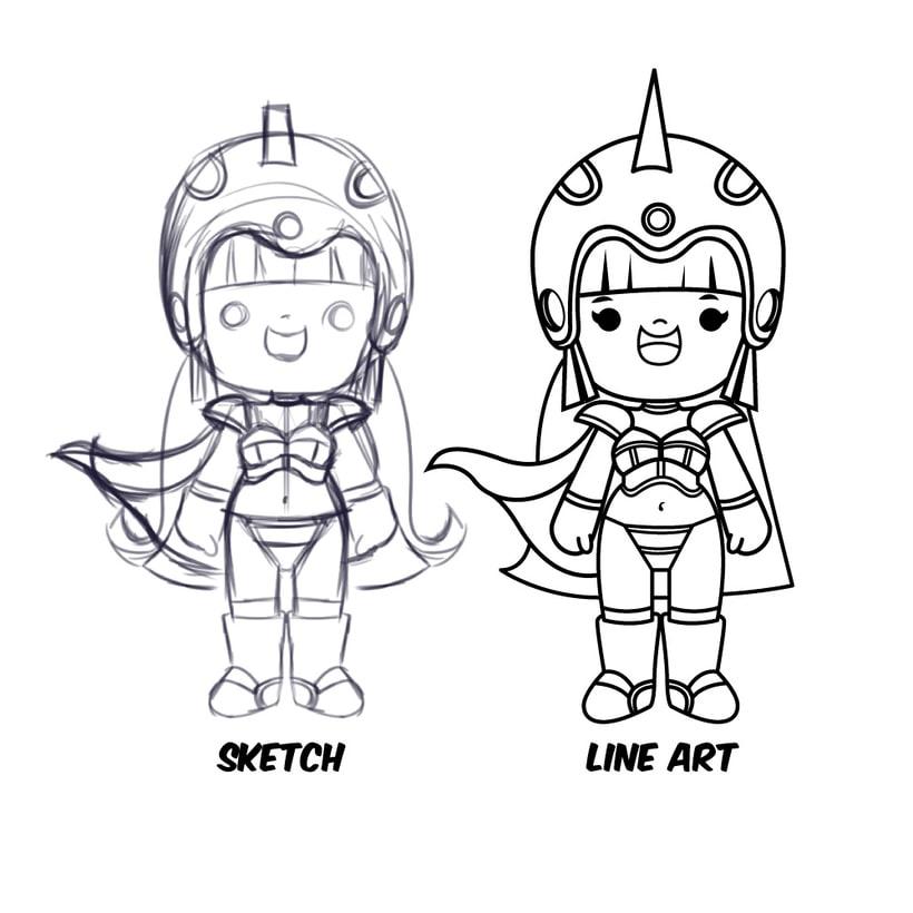 Mi Proyecto del curso: Diseño de personajes estilo kawaii 10