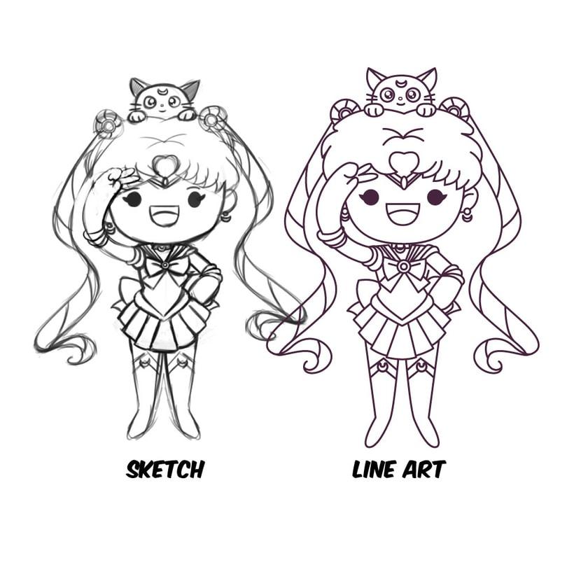 Mi Proyecto del curso: Diseño de personajes estilo kawaii 7