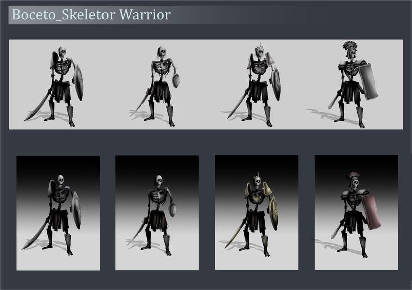 Concep Art by MeFO_Fantasy_Skeletor Warrior 1