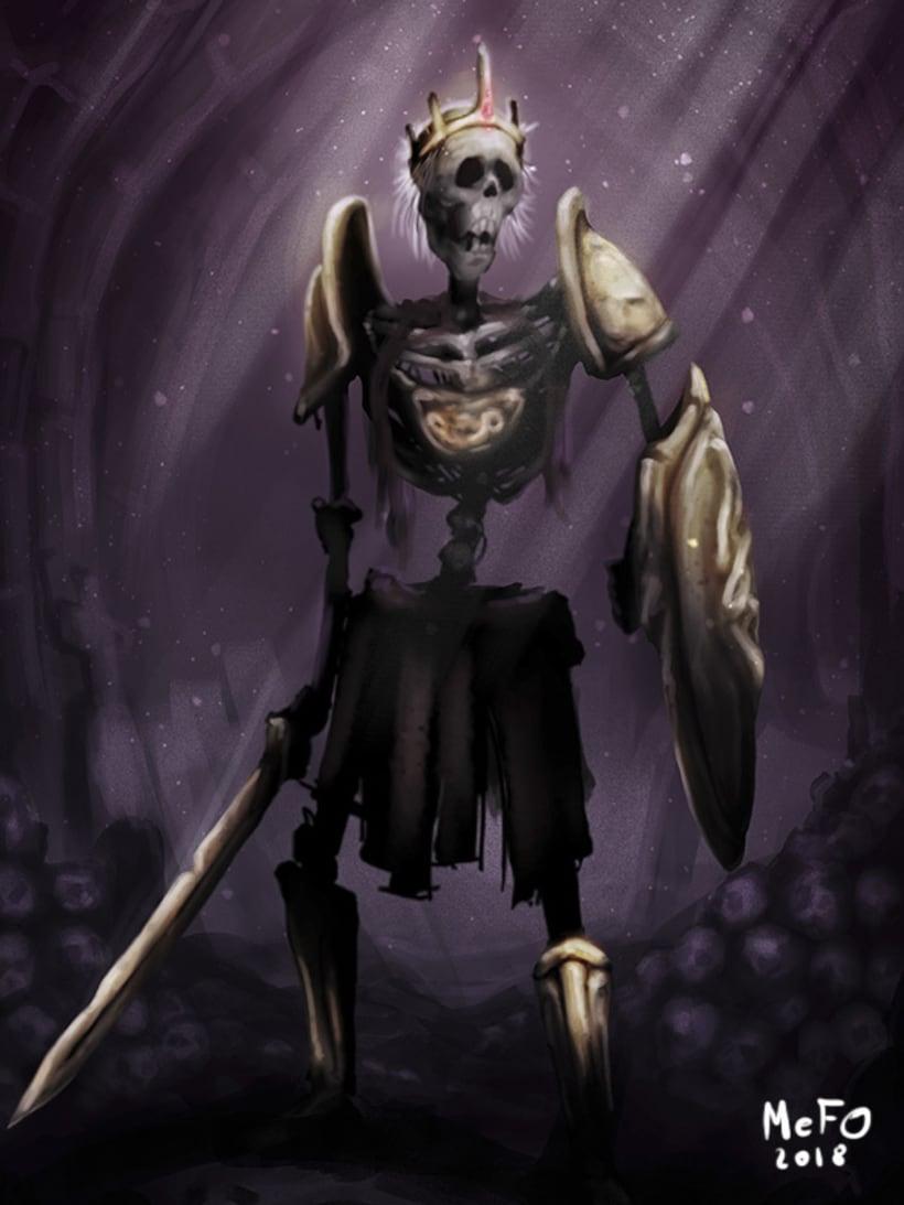 Concep Art by MeFO_Fantasy_Skeletor Warrior 2