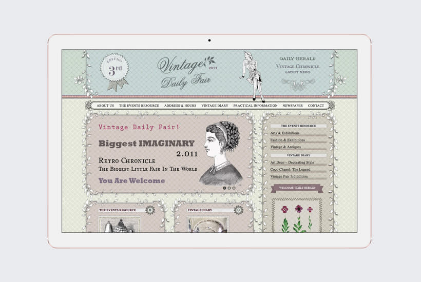 Vintage Daily Fair - Web Design 0