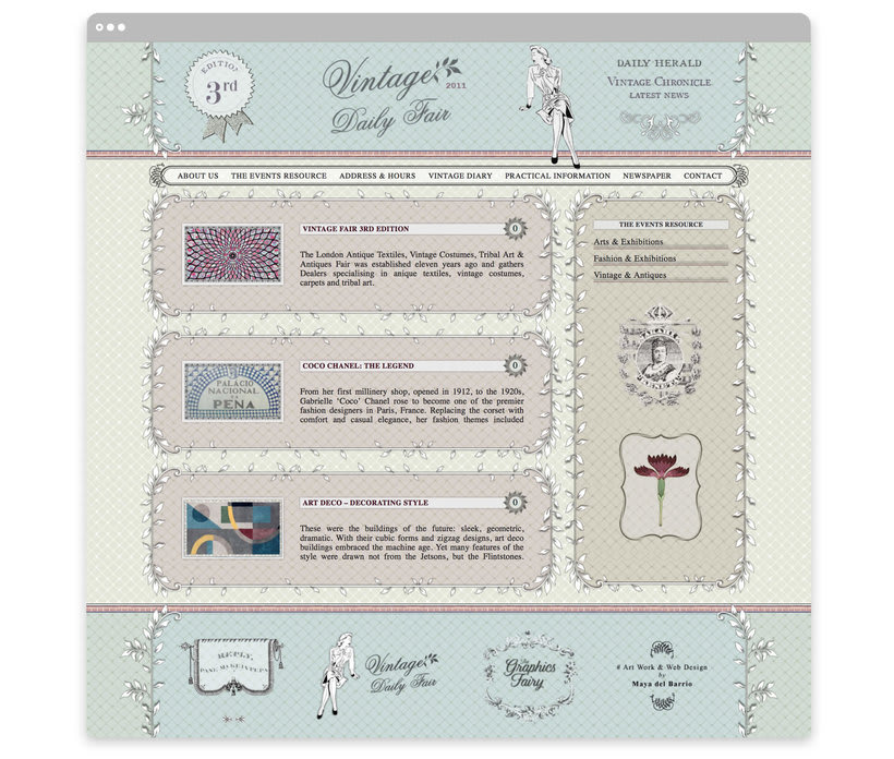 Vintage Daily Fair - Web Design 1