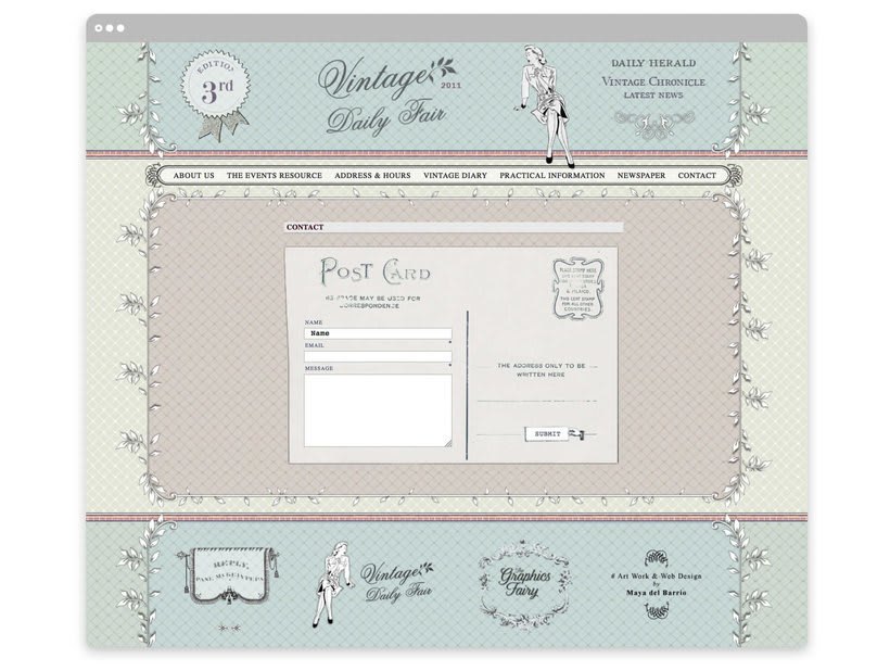 Vintage Daily Fair - Web Design 2