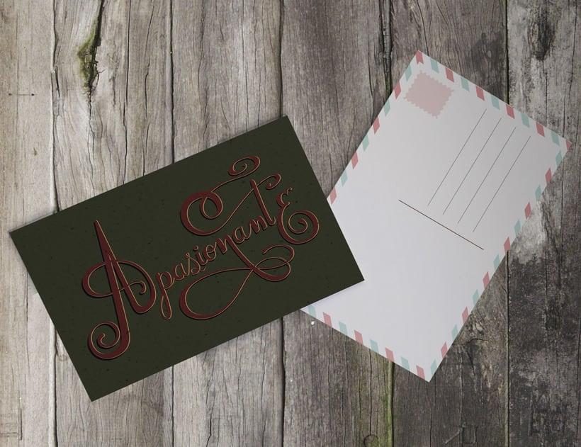 Mi primera postal con lettering 1