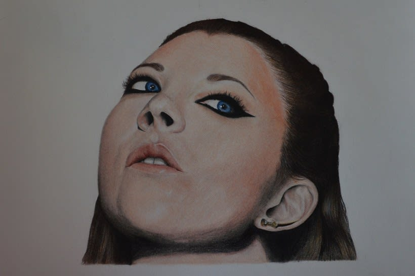 Mi Proyecto del curso:  Retrato realista con lápices de colores -1