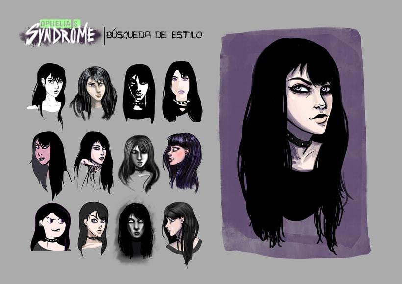 Ophelia's Syndrome, diseño de personajes 1