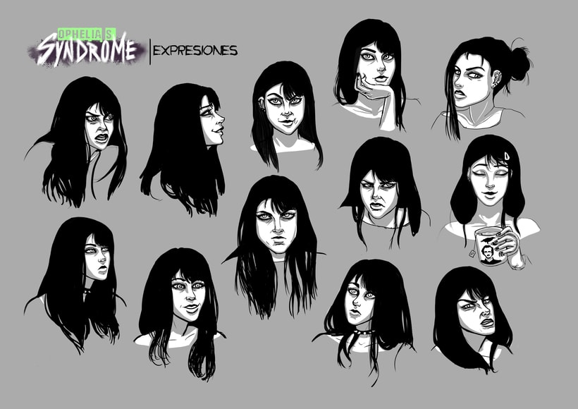Ophelia's Syndrome, diseño de personajes 3