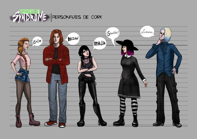 Ophelia's Syndrome, diseño de personajes 5