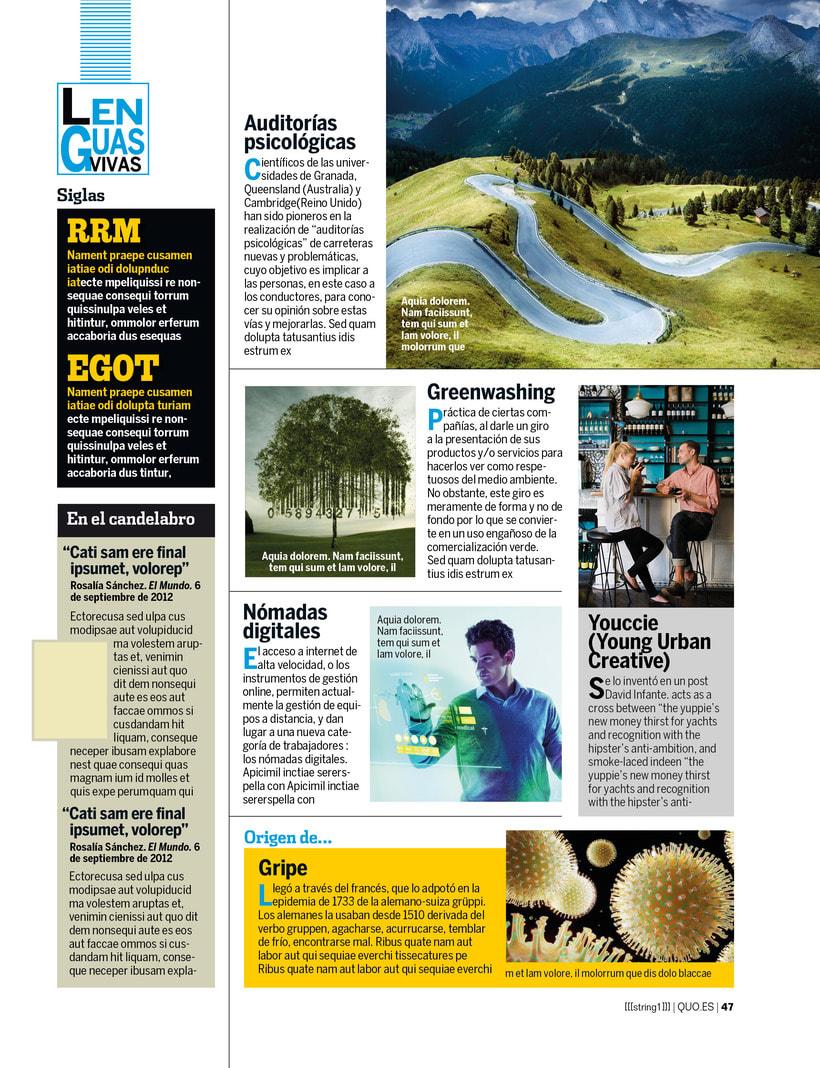Maquetación y edición fotográfica para las revistas del Grupo Hearts Magazine. Harper's Bazaar /Quo / micasa / Nuevo Estilo  9