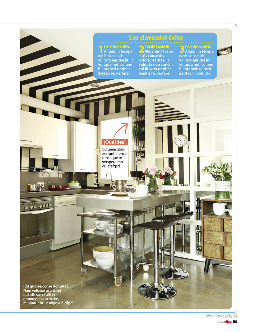 Maquetación y edición fotográfica para las revistas del Grupo Hearts Magazine. Harper's Bazaar /Quo / micasa / Nuevo Estilo  13
