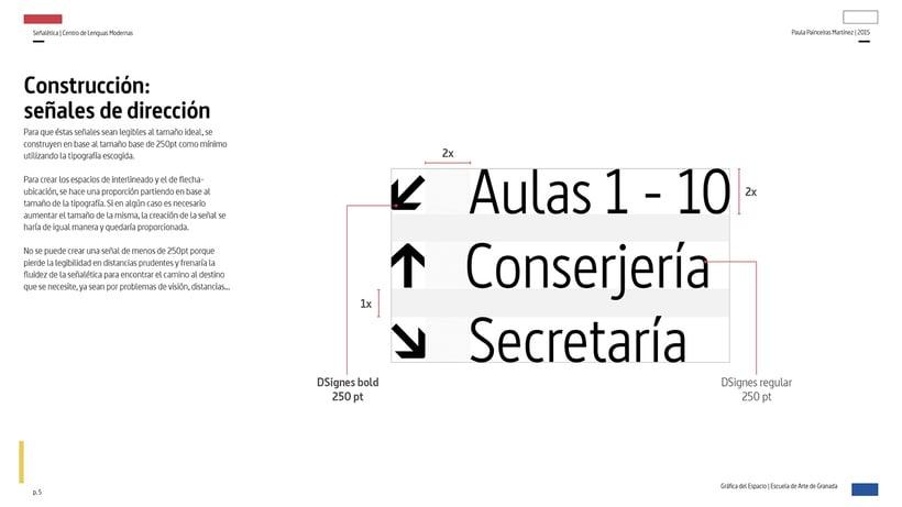 Wayfinding del Centro de Lenguas Modernas 3