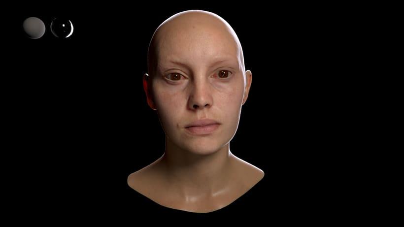 Skin shader study 0