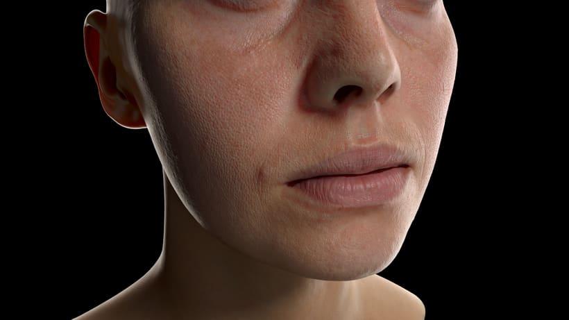 Skin shader study 1