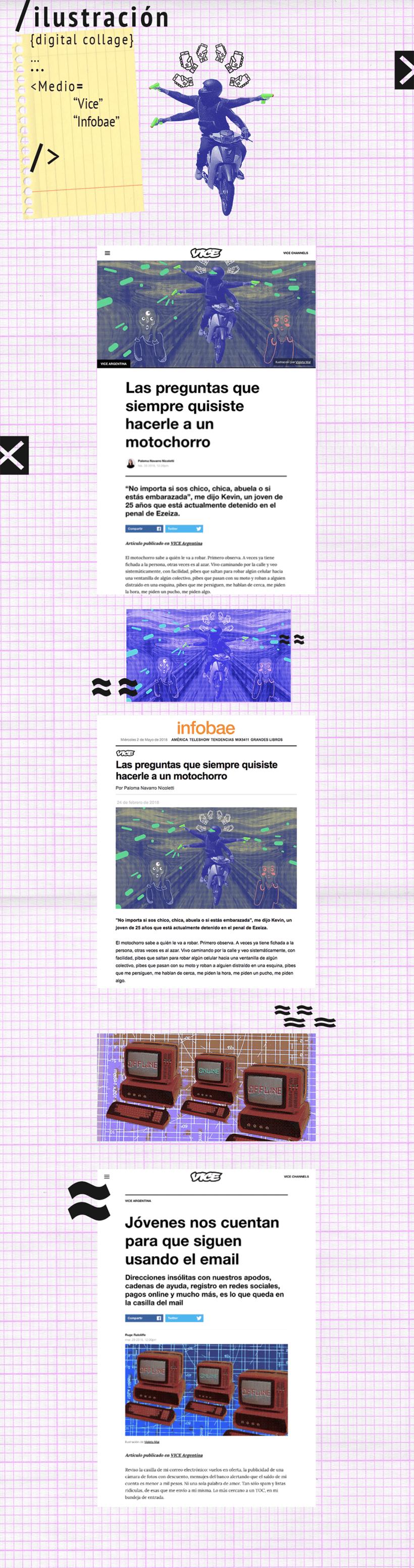 Ilustración: collage digital para medios gráficos  0