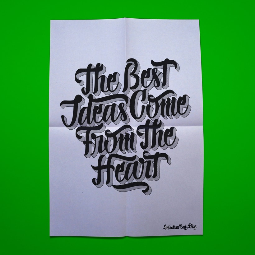 The best ideas come from the heart 0
