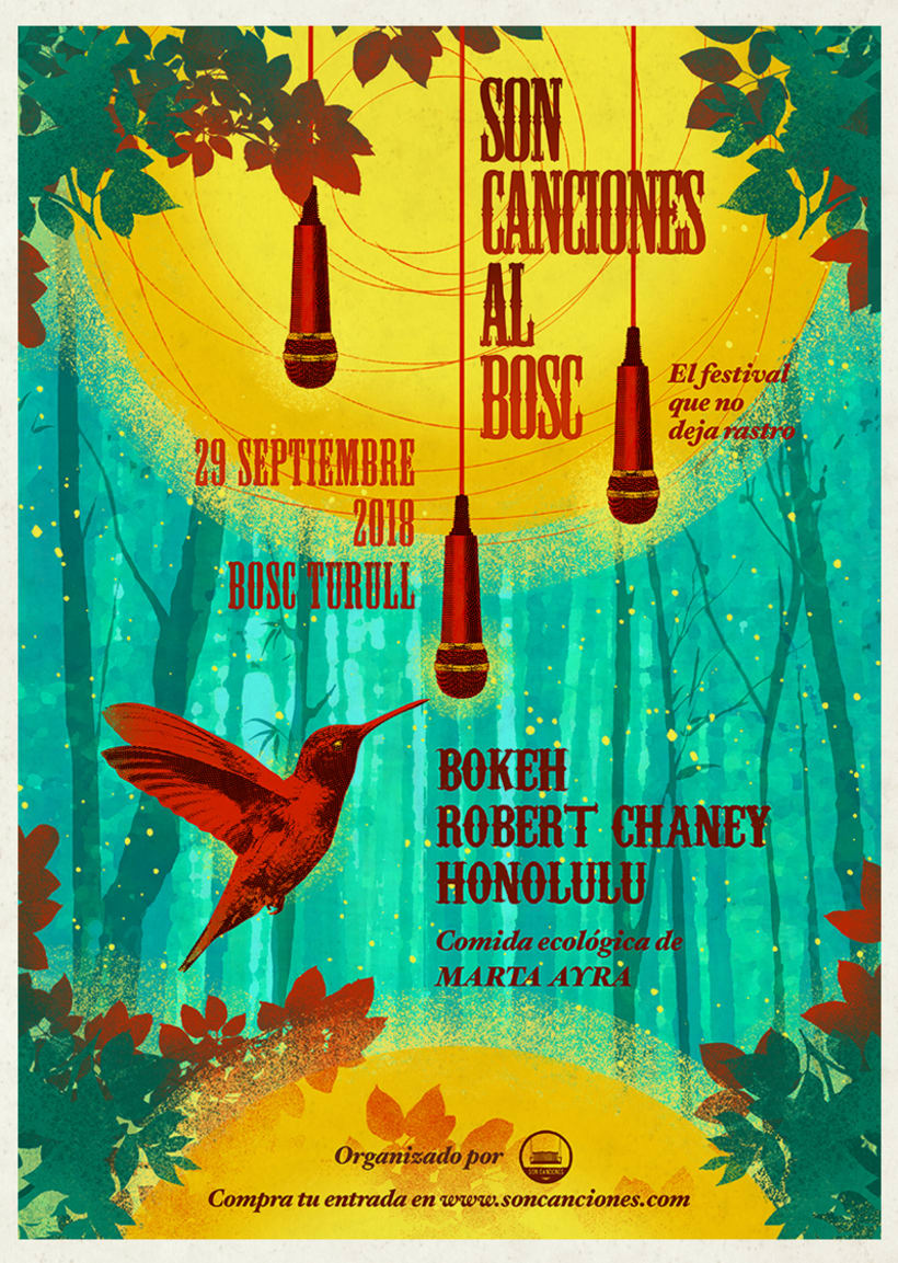 "Cartel ""Son Canciones al Bosc"" 0"