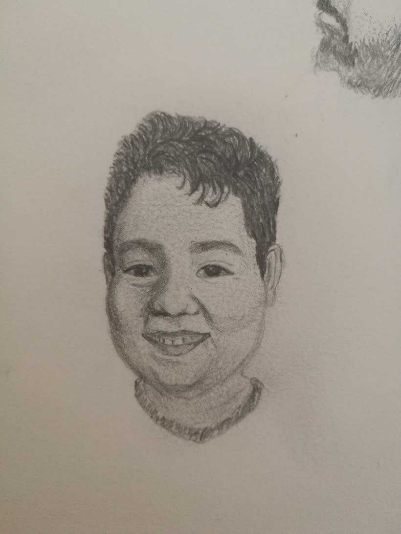Simplificar los trazos en los dibujos de retratos  0