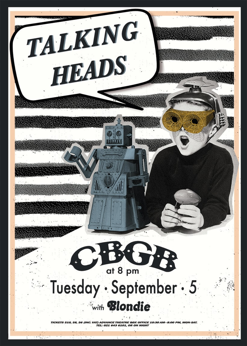Proyecto de cartelismo ilustrado: Talking Heads 0
