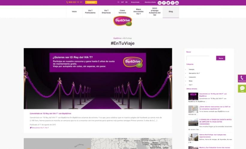 Redacción y gestión de contenidos en proyecto desarrollo web Bip&Drive 1