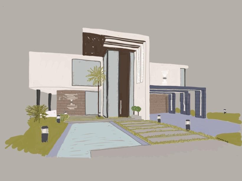Mis Ilustraciones: Paisajes, Arquitectura, Streetmotivattion -1