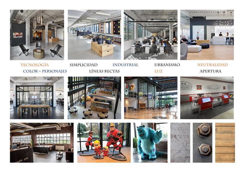 Diseño de oficina + showroom para Pixar en Matadero Madrid 5