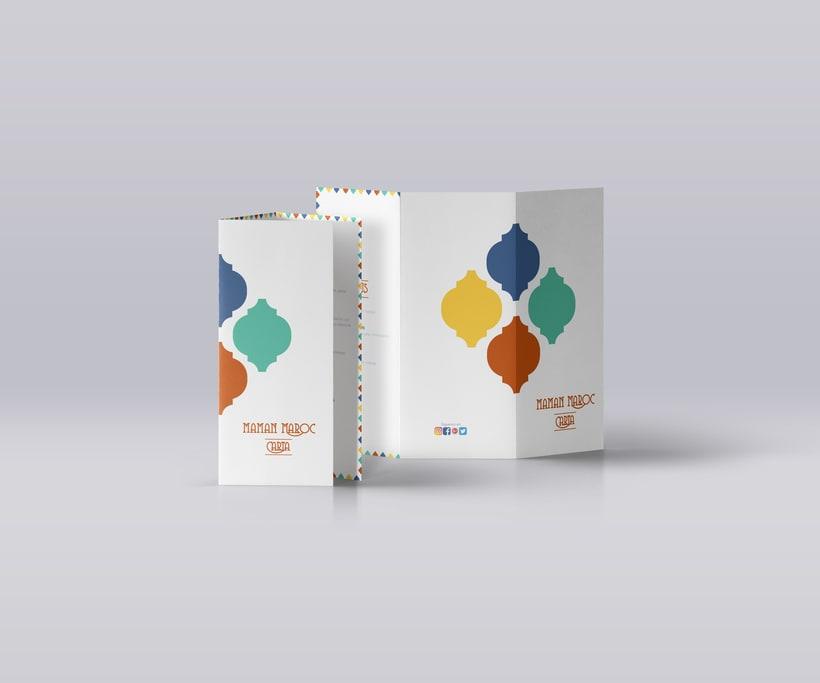 Diseño de Imagen Corporativa ficticia para Restaurante Árabe 1