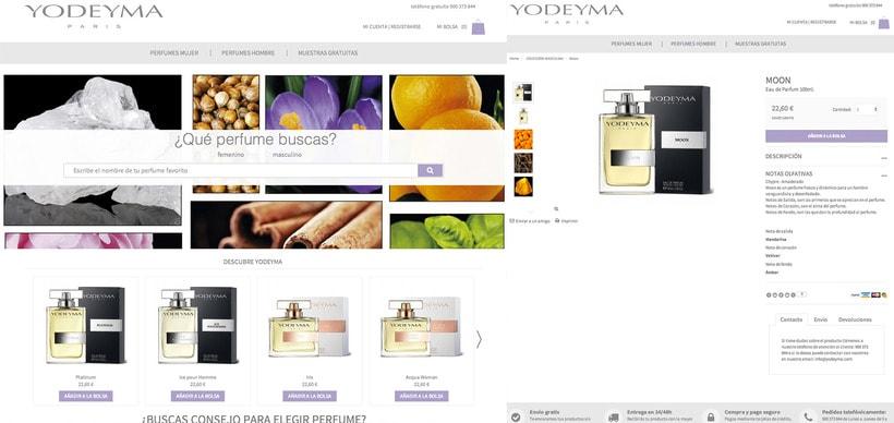 Gestión de contenidos tienda online perfumería Yodeyma. Proyecto realizado en Prestashop  0