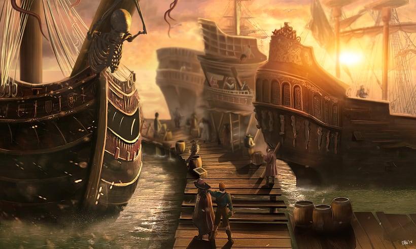 Puerto Pirata y el Capitán James Garfio 0