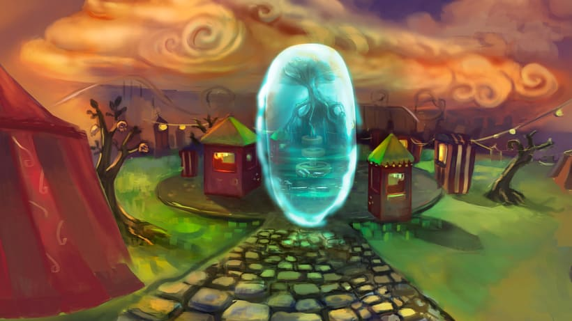 """Animación de """"El portal"""" con cámara 3D y After Effects 3"""