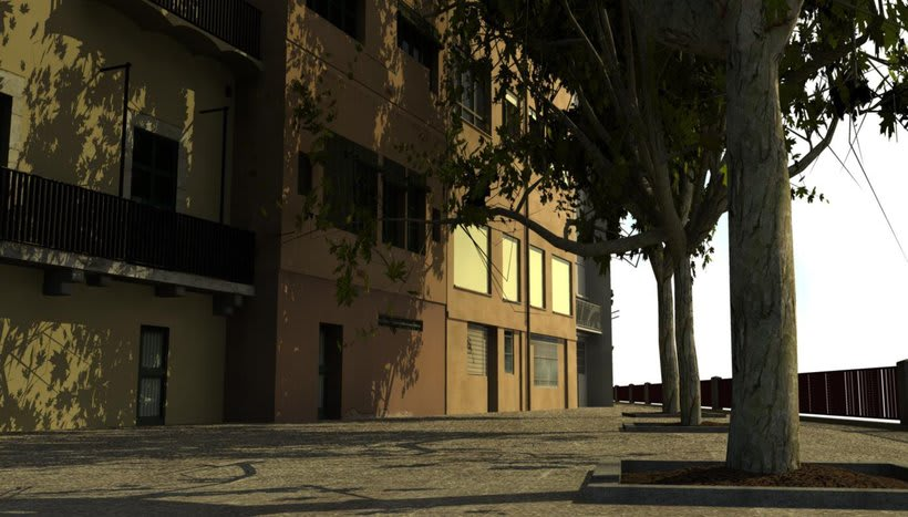 Façanes de l'Onyar de Girona, 3D  3