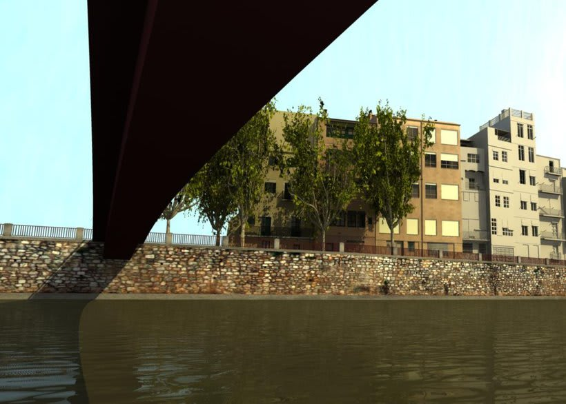 Façanes de l'Onyar de Girona, 3D  4
