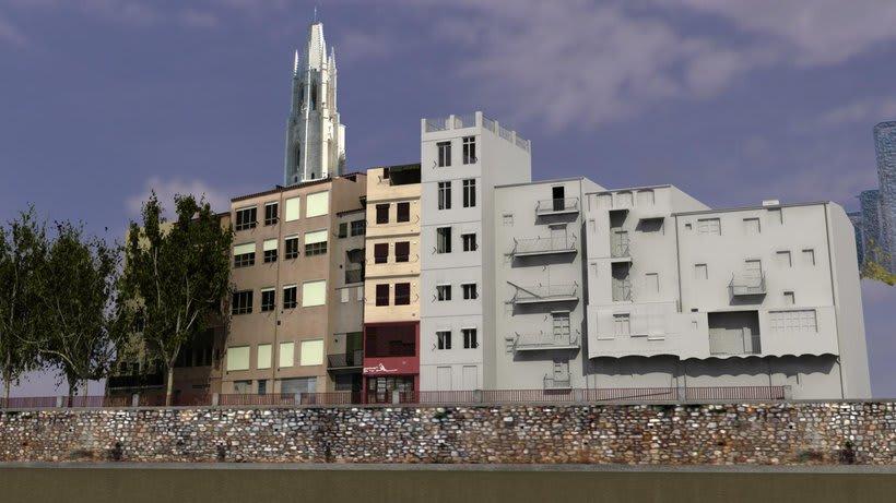 Façanes de l'Onyar de Girona, 3D  5